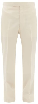 The Row Isaac Tailored Wool-blend Twill Suit Trousers - Cream