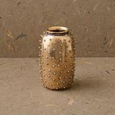 Kelly Wearstler Studded Vase - Burnished Brass