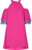Peter Pilotto Off-the-shoulder Embroidered Cotton-poplin Mini Dress - UK8