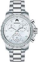 Movado Series 800 Stainless Steel Bracelet Diamond Bezel Watch