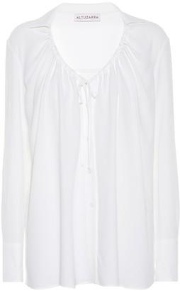 Altuzarra Bowie silk-blend blouse