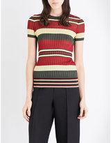 Valentino Stripe-print knitted top