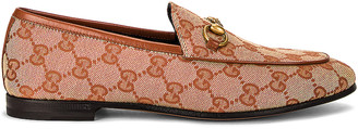 Gucci Jordan GG Canvas Loafers in Beige Ruggine & Rust | FWRD
