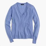 J.Crew Italian featherweight cashmere classic V-neck sweater