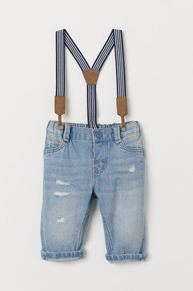H&M Jeans with Suspenders