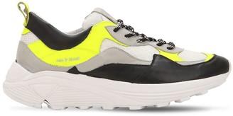 Leather & Mesh Platform Sneakers