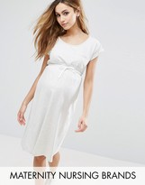 Mama Licious Mama.licious Mama.Licious Short Sleeve Jersey Dress With Drawstring Waist
