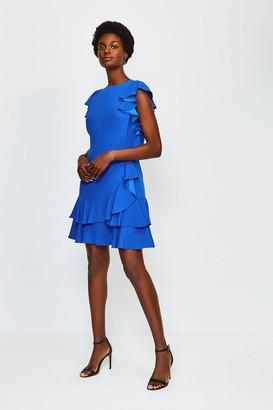 Karen Millen Frill Sleeve Hem Dress