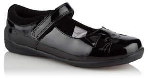 CAT George Black Detail Patent School Shoes