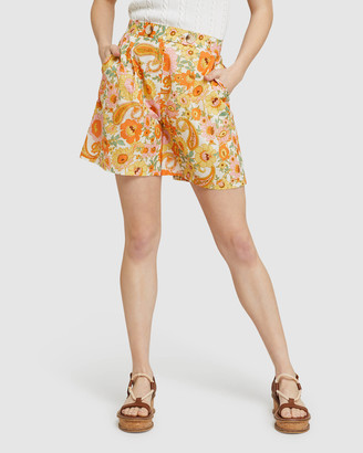 Oxford Women's High-Waisted - Sasha Retro Floral Shorts - Size One Size, 6 at The Iconic