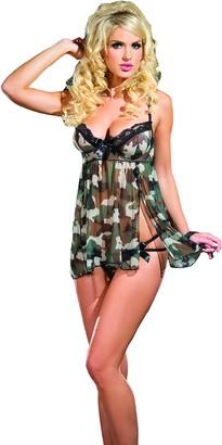 Raveware Lingerie Women's Sexy Camouflage Babydoll Lingerie