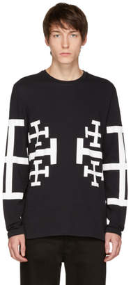 Neil Barrett Black Long Sleeve Jerusalem Cross T-Shirt