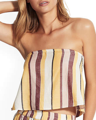 Seafolly Striped Strapless Crop Top