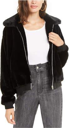Say What Juniors' Faux-Fur Jacket