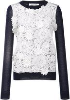 Prabal Gurung cashmere lace front jumper