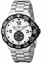 Tag Heuer Men's Formula 1 Grande Date Dial Stainless Steel Watch White WAH1011.BA0854