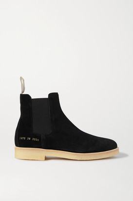 Common Projects Suede Chelsea Boots - Black