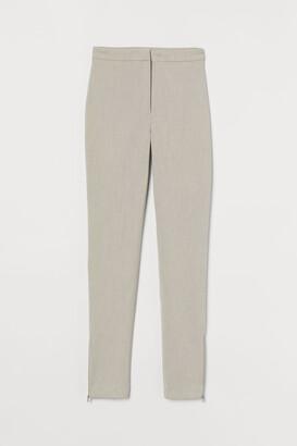 H&M Zip-hem Pants - Beige