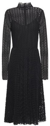 Philosophy di Lorenzo Serafini Pleated Macrame-lace Midi Dress