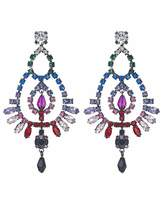 Camper Mood Crystal Rainbow Chandelier Earrings