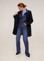 MANGO Structured wool mix coat