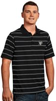 Antigua Men's Pittsburgh Penguins Deluxe Striped Desert Dry Xtra-Lite Performance Polo