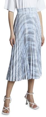 Proenza Schouler White Label Pleated Tie-Dye Midi Skirt