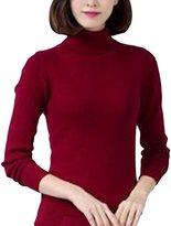 MFrannie Women Polo Neck Multiple Colors Cashmere Pullover Sweater S