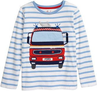 Boden Lift the Flap Fire Truck Applique T-Shirt
