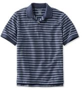 L.L. Bean Premium Double L Polo, Banded Short-Sleeve Without Pocket Stripe