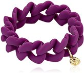 Marc by Marc Jacobs Plum Haute Mess Rubber Turn Lock Stretch Bracelet, 6.5""