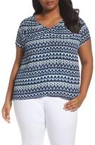 Sejour Plus Size Women's Smock Detail Top