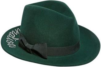MonnaLisa Embellished Wool Felt Fedora Hat