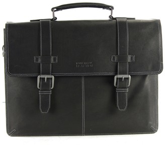 "Kenneth Cole Reaction Colombian Leather Double Gusset Flapover 13"" Computer Portfolio Bag"