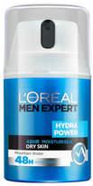 L'Oreal Men Expert Hydra Power 48hr Moisturiser Dry Skin 50ml