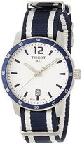 Tissot Men's 'Quickster' Quartz Stainless Steel and Nylon Casual Watch, Color:White (Model: T0954101703701)