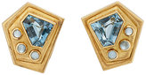 Mahnaz Collection Vintage Women's Mixed-Gemstone Clip-On Stud Earrings