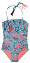 Gossip Girl Girl's 'Le Corsaire' Print One-Piece Swimsuit