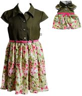 Dollie & Me Girls 4-14 Woven Fashion Dress With Belt