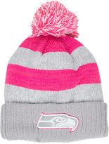 New Era Women's Seattle Seahawks NFL 2016 Breast Cancer Awareness Sport Knit Hat