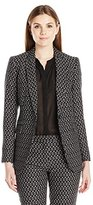 Anne Klein Women's Optical Hitch Peak Lapel Jacket