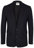 Oliver Spencer Navy Cotton And Wool Blend Jacket