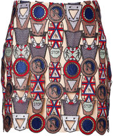 Mary Katrantzou Poppycon Lace Mini-Skirt