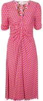 Diane von Furstenberg ruched V-neck dress