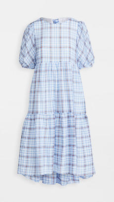 ENGLISH FACTORY Plaid Tent Dress