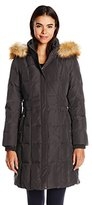 Jones New York Women's Down Coat with Faux Fur Hood