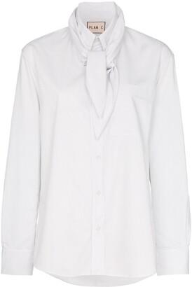 Plan C Scarf Detail Shirt