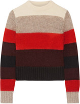 Rag & Bone Britton Striped Knitted Sweater - Red