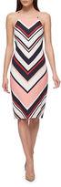 GUESS Chevron-Stripe Bodycon Dress