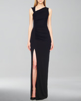 Michael Kors Gathered Asymmetric Jersey Gown